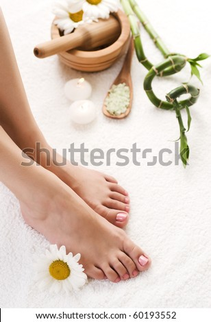 Herbal Feet Spa - stock photo