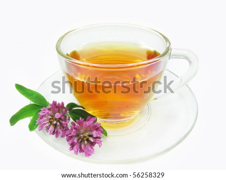 herbal medical tea with clover extract