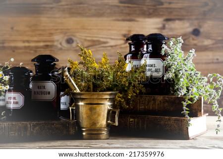 Herbal medicine  - stock photo