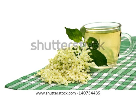 herbal medicine, tea of elder flower