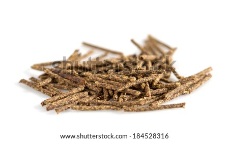 Herbal moxa acupuncture. Isolated on white background - stock photo