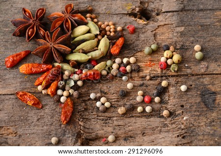 Herbs and spices selection - stock photo
