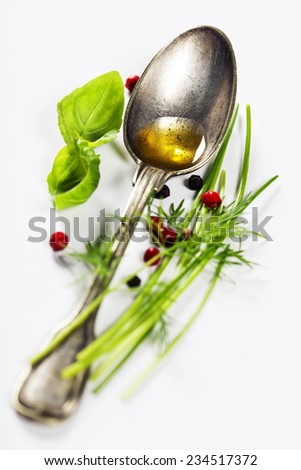 Herbs and spices selection, close up - stock photo