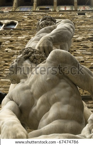 Hercules and Caco sculpture in Florence