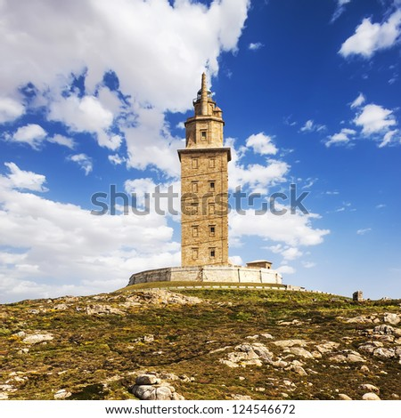 Hercules tower (lighthouse), La Coruna, Galicia, Spain, UNESCO