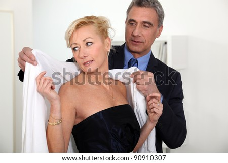 Here darling - stock photo