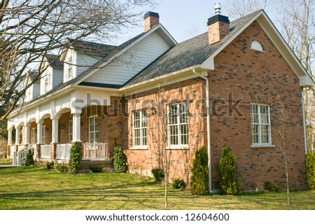 Heritage  brick house in suburbs of Toronto
