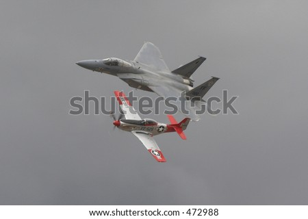 Heritage Flight - stock photo