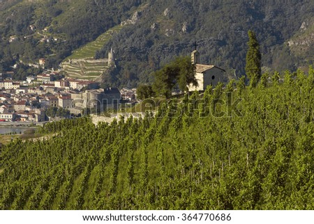 Hermitage Cote du Rhone - stock photo