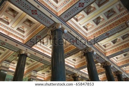 Hermitage or Winther Palace in St Petersburg, Russia - stock photo