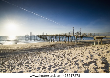 Hermosa Beach Late Afternoon - stock photo