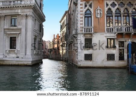 Hermosa vista de Venecia, Italia - stock photo