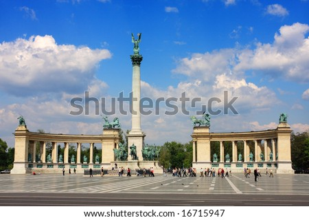 Heroes Square, Budapest, Hungary - stock photo
