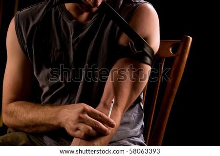 heroin addiction - stock photo