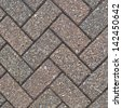 Herringbone brick pattern composition as an abstract background - stock photo
