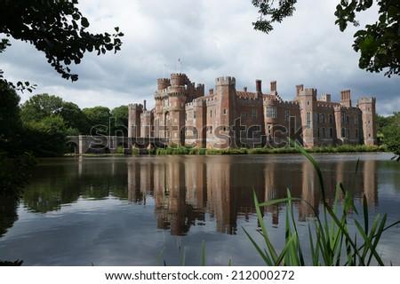 Herstmonceux Castle, Hailsham, East Sussex, England, UK - stock photo