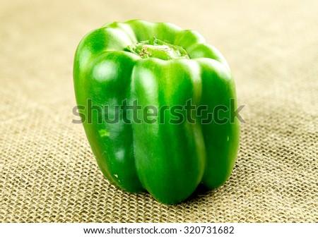 Hessian green pepper, organic - stock photo