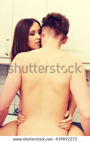 Heterosexual couple having sex. - stock photo