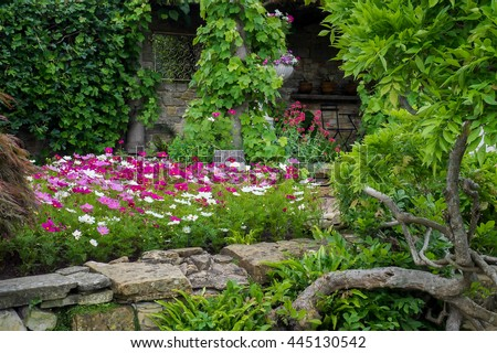 HEVER, KENT/UK - JUNE 28 : View of the Garden at Hever Castle in Hever Kent on June 28, 2016