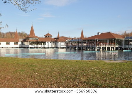Heviz lake,Hungary - stock photo