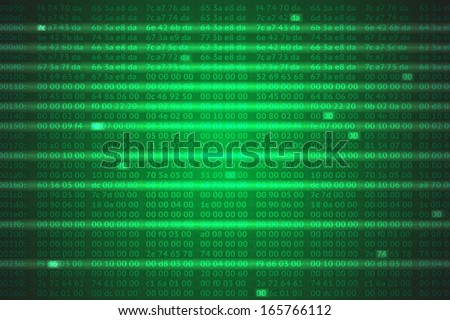 hex codes background - stock photo