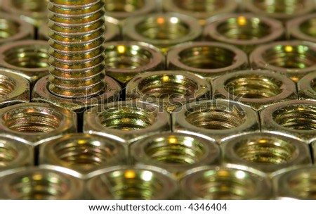 Hex Nuts and Bolt - stock photo