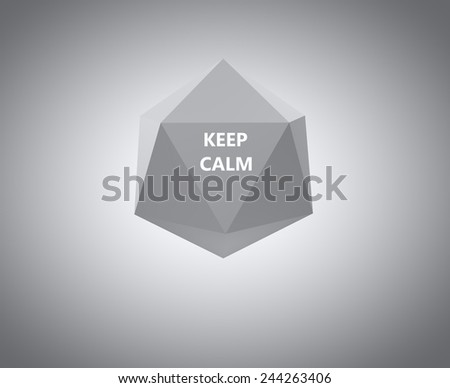 hexagon keep calm template