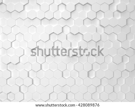 Hexagonal background. 3d background - stock photo
