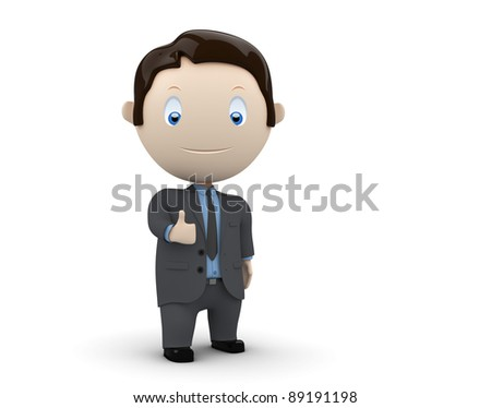 Hey! Social 3D characters: happy smiling boy waves his hand. New constantly growing collection of expressive unique multiuse people images. Concept for welcome or greeting illustration. - stock photo