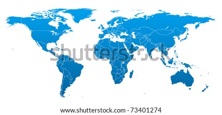 Hi detail real world map territorial ilustracin de stock73401274 hi detail real world map with territorial countries fragmentation gumiabroncs Images