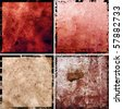 hi-res abstract grunge backgrounds set, raster illustration - stock photo