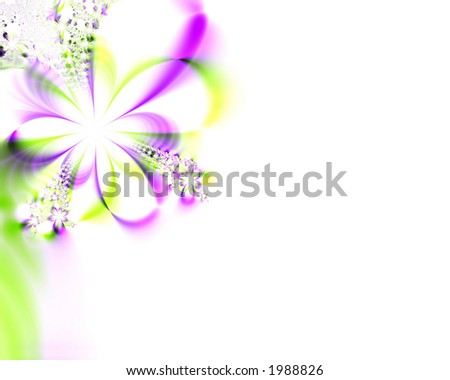 Hi-res fractal flower used for weddings, Easter, spring/summer or other events - stock photo