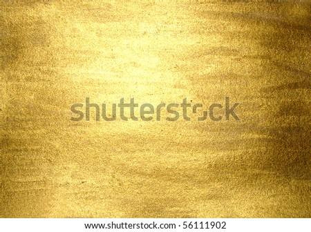 hi-res golden grunge background, raster illustration - stock photo