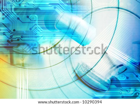 Hi-Tech Abstract Futuristic - Grunge Background. Great as a background or a design element. - stock photo
