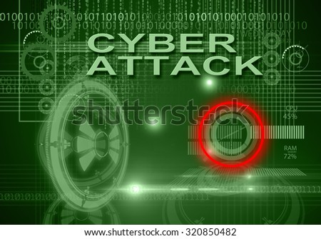 hi tech infographics of cyber attack made in 3d software - stock photo