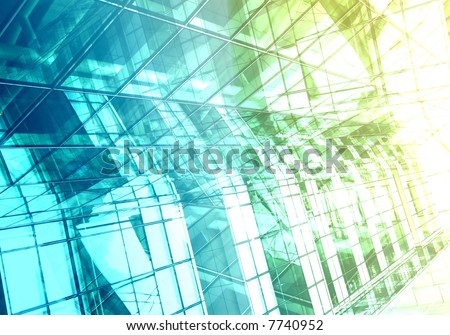 Hi-tech modern building details - Strong lines and patterns. Great as a background or a design element. - stock photo