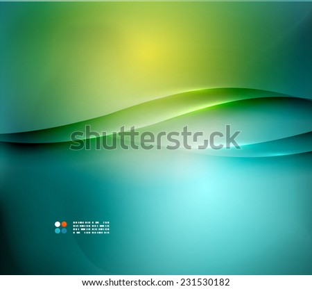Hi-tech or business futuristic blurred template, blue yellow colors - stock photo