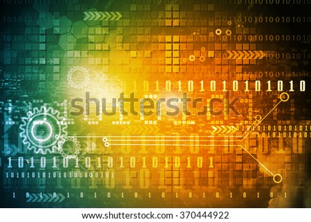 Hi-tech technological background. Binary stream