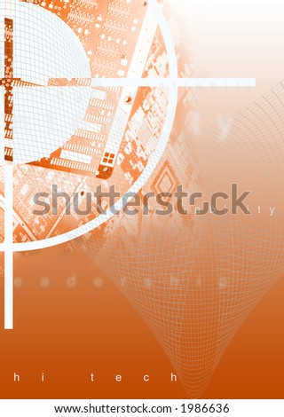 hi teck background - stock photo