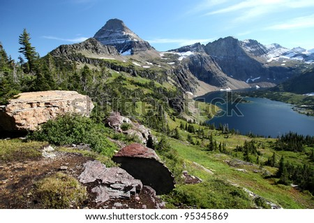 Hidden Lake, Glacier National Park, Montana - stock photo