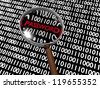 Hidden Numeric Password in Plenty of Binary Digits - stock photo