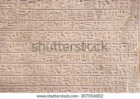 hieroglyphs - wallpaper - stock photo