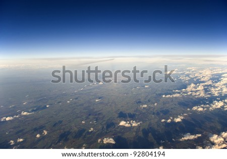 High altitude view of the Earth. - stock photo