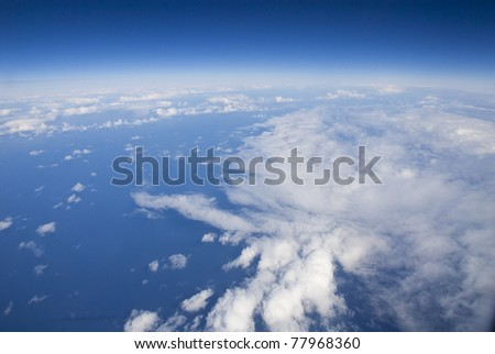 High altitude view of the Earth's surface - stock photo