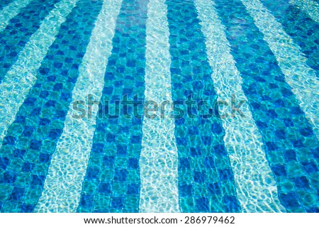 High angle view of a swimming pool  - stock photo