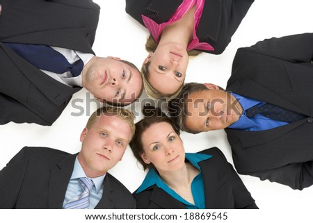 High Angle View Of Business People