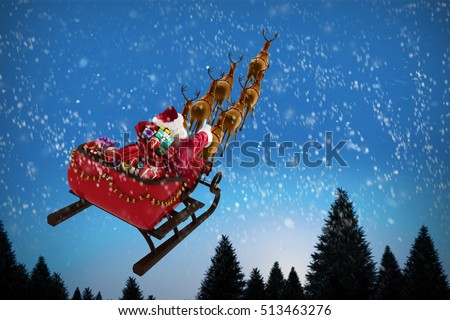 Santa Claus Sleigh Stock Images Royalty Free Images
