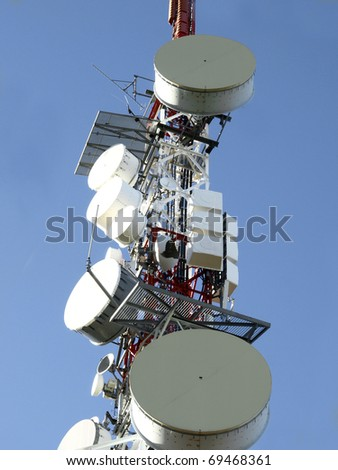 high antenna and dishes of communication