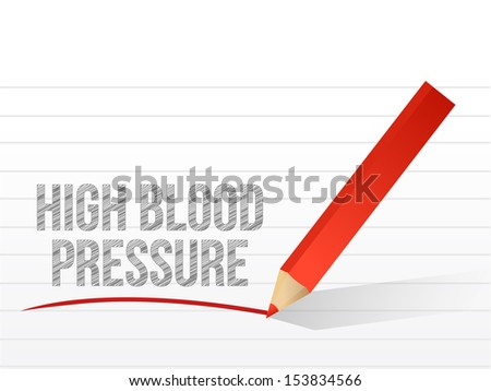 high blood pressure written on a white piece of notebook paper