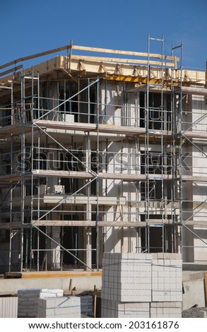High-building construction - stock photo